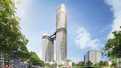 Phối cảnh 3D Bắc Ninh Twin Tower - Him Lam Group