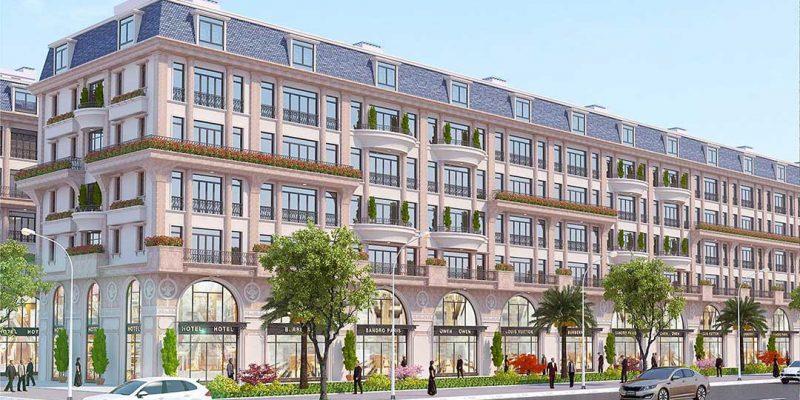 Phối cảnh nhà phố, liền kề dự án Mạnh Đức Residence