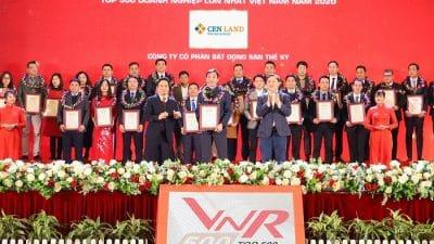 Cen Land được vinh danh Top 500 công ty lớn nhất Việt Nam năm 2020