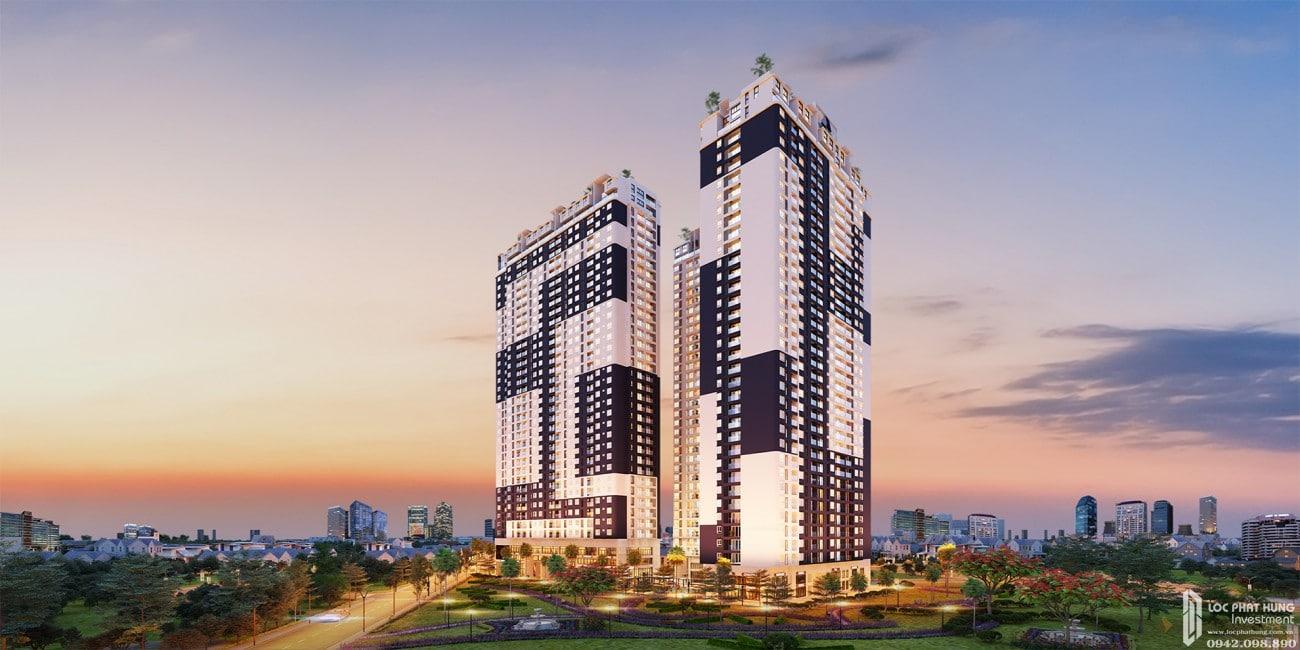 Phối cảnh tổng thể dự án căn hộ chung cư C Skyview Bình Dương